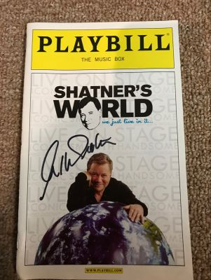 Shatners World Broadway Playbill Signed by ...
