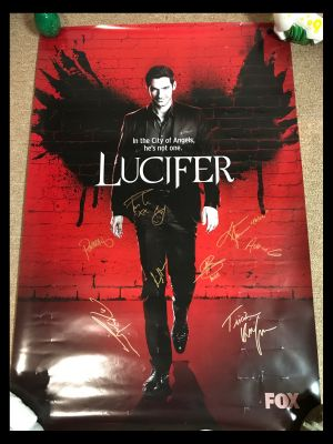 Lucifer TV Show One Sheet Signed by Cast