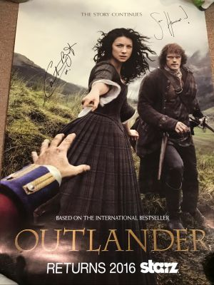Outlander Season One Poster - Signed by Sam...