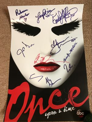 Once Upon A Time Mask Mini Poster Signed