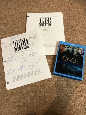 Once Upon A Time Script, Signed Script Cove...