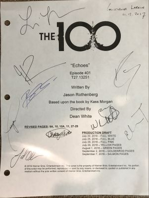 The 100 Script Cover Signed by Cast