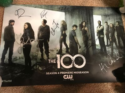 The 100 Cast signed Mini Poster