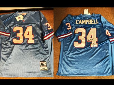 Houston Oilers Throwback Football Jersey Si...