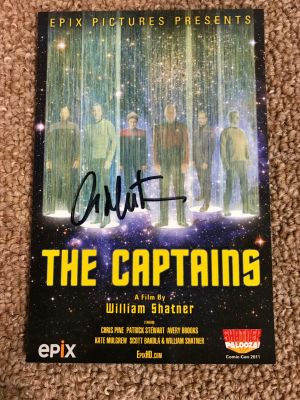 Captains One Sheet Postcard from Shatner Pa...