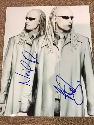 Twins from the Matrix photo - signed by Adr...