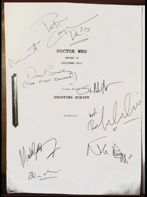Peter Capaldi Final Doctor Who Shooting Scr...