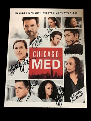 Chicago Med Cast Signed 8x11 inch Photo