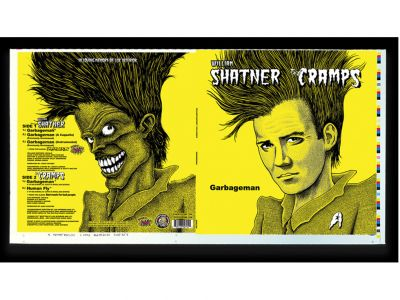 William Shatner / The Cramps - Uncut/Unassembled 12-inch Record Jacket - Signed by Mr. Shatner