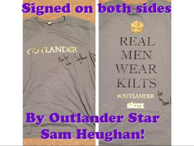 Dual Signed Outlander T-shirt for Raffle