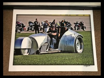 Rivet Motorcycle Photo signed by Mr. Shatne...