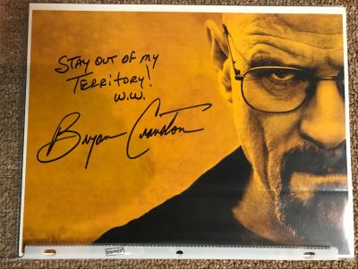 Breaking Bad Photo Signed by Bryan Cranston