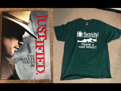 Justified DVD Series and Prop T-shirt used ...