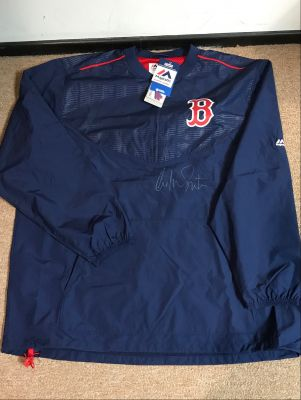 Boston Red Sox Windbreaker Signed by Willia...