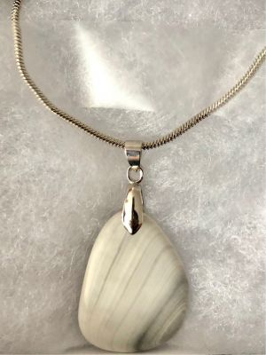 Atlantic Seashell Necklace with Stainless S...