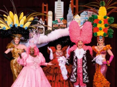 Two tickets to Beach Blanket Babylon
