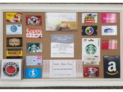 Ms. Oliver and Mrs. Hart's Gift Card Frame