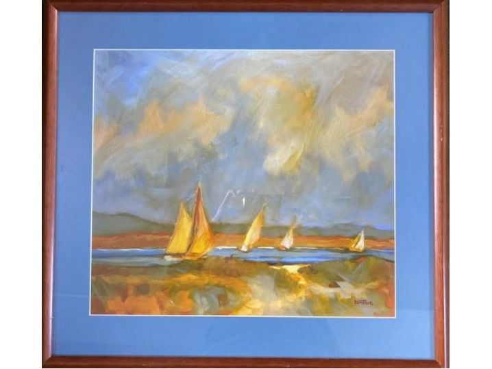 Framed Print ''Unknown'' Sailboats by Donthier