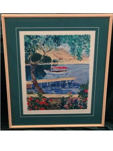 Framed Print ''Mooring'' by C. Perry