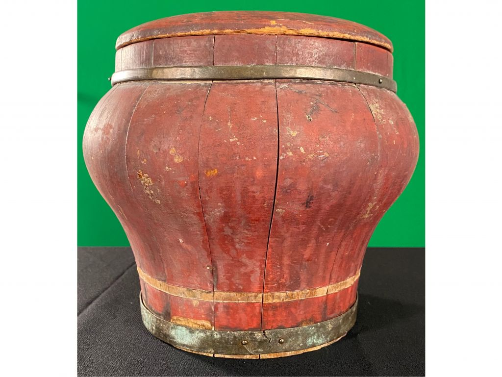 Antique Wooden Chinese Ginger Jar