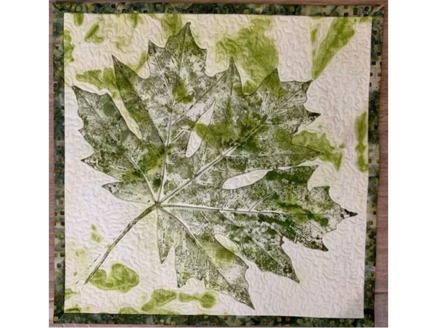 Quilt: Summer Maple Leaf Wall Tapestry