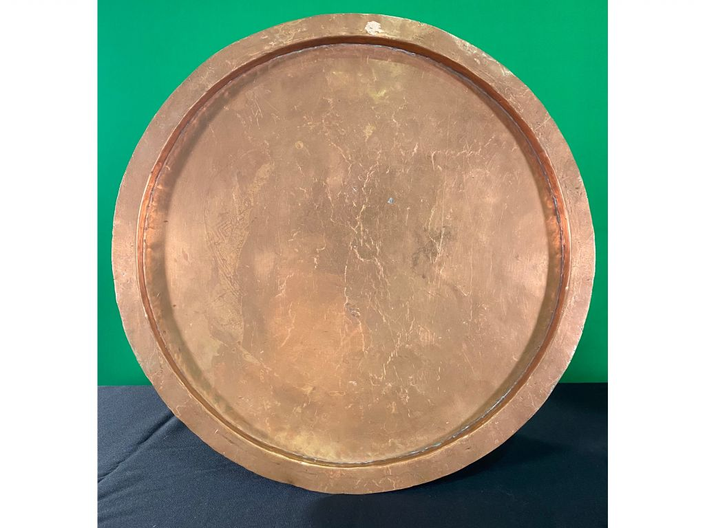 Antique Copper Tray from the  Kodiak History Museum