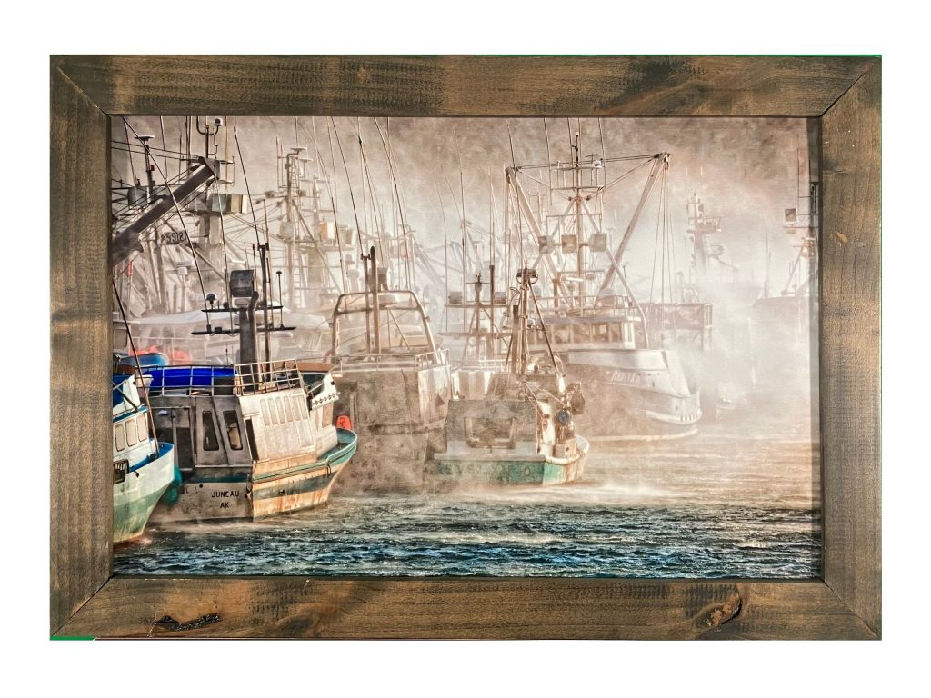 Framed Print ''Windy Kodiak Harbor'' by Alf Pryor