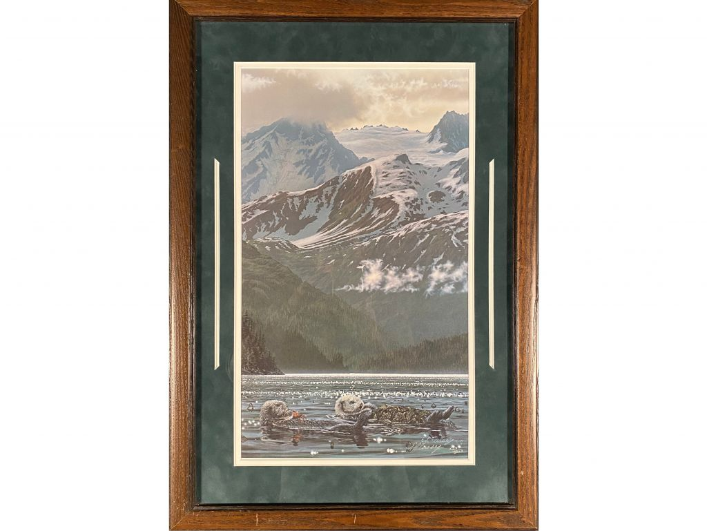 Framed Print ''Mountain and Sea Otters'' by Ed Tusse...