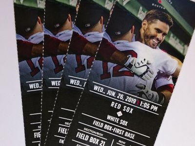 Red Sox vs. White Sox Tickets - Fenway Park Field Box!!