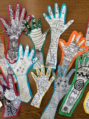Custom Made Hand Art by your Third Grader