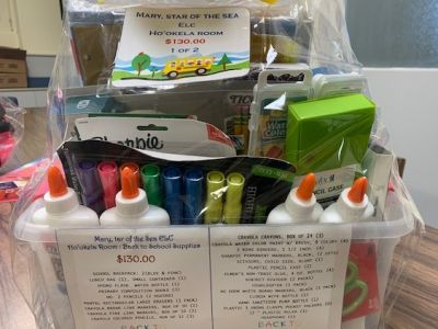 Back to School Supplies Gift Basket