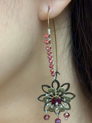 Handmade ''Steampunk'' inspired drop earrings by Creative Chaos (Stacey Taylor)