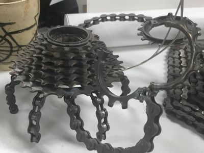 Bicycle Chain Art - Crab