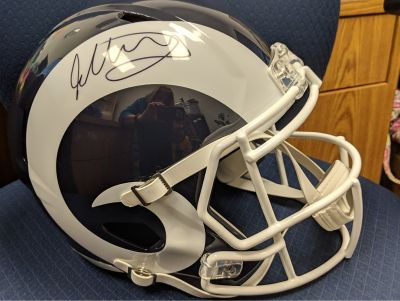 Todd Gurley signed Los Angeles Rams Helmet