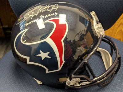 JJ Watts Authenticated 'Houston Strong' Helmet