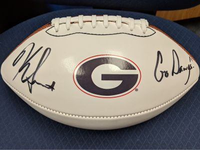 Georgia Football Kirby Smart Autographed Football