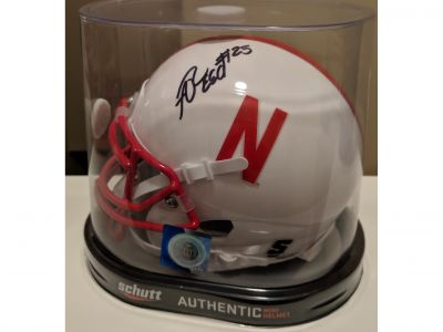 Antonio Reed Nebraska mini helmet