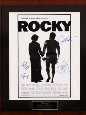 Autographed Rocky Movie Poster