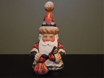 Wooden Santa from Russia