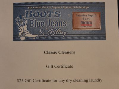 $25 Dry Cleaning Certificate
