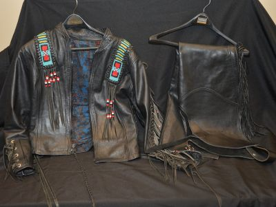 Beaded Leather Jacket and Chaps