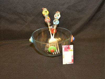 Whimsical Serving Bowl and Utensils