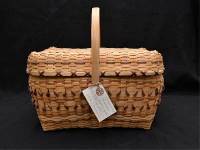 Hand-Crafted Native American Basket