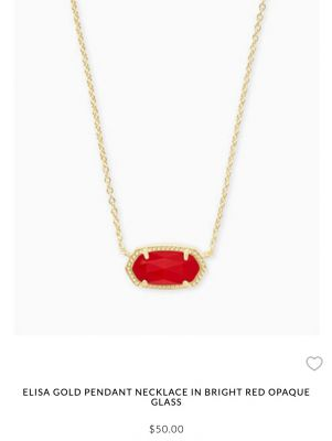 Kendra Scott Elisa Gold Pendant in Ruby Red