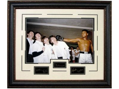 Muhammad Ali with The Beatles Vintage Photograph