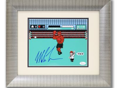 Nintendo Punchout Signed by Iron Mike Tyson