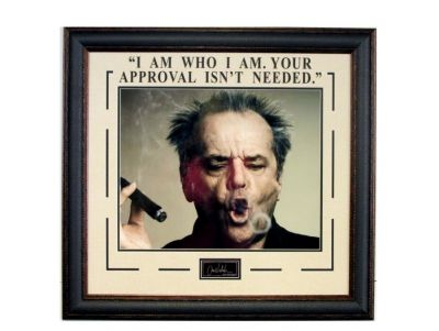 Jack Nicholson '' I Am Who I Am '' Photograph