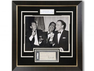 Rat Pack Vegas Photo Rare Check by Sammy Davis Jr.