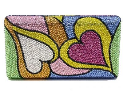 All You Need is Love Swarovski Crystal Purse