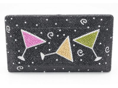 Martini Time!  Swarovski Crystal Purse